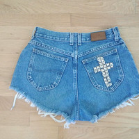 Cross Studded Shorts