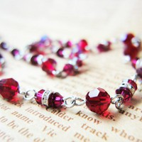 Passion Love Ruby Red Swarovski Crystals Choker Necklace