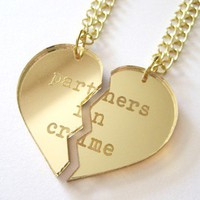 Partners in Crime Necklace Set - Gold