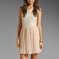 Jack by BB Dakota Javier Lace and Chiffon Dress in Whitecap/Pinkshell from REVOLVEclothing.com
