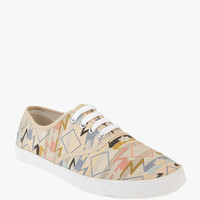 Woven Plimsoll Sneaker