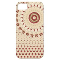 iPhone 5 Red and Beige Rosetta pattern iPhone 5 Covers from Zazzle.com
