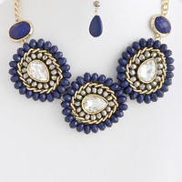 Garden of Paradise Necklace in Blue -  $29.00 | Daily Chic Accessories | International Shipping