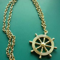Nautical Karma Ship Wheel Pendant Necklace | Sincerely Sweet Boutique