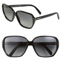 Prada 'Vintage' Angled Square Sunglasses??120?cheap prada?accessories?prada