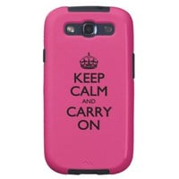 Cabaret Keep Calm And Carry On Samsung Galaxy SIII Covers
