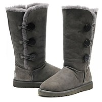 Get Excellent Grey Ugg 1873 Australia Bailey Button Triplet Boots at our Online ugg bailey button triplet 1873 Outlet, Top High Quality