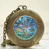 Tree Of Life Antique Bronze Photo L.. on Luulla