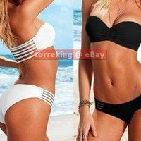 HotSexy2pcs LADY/WOMEN Cut Out Bandeau Bikini Paded Push Up Swimwear Swimsuit