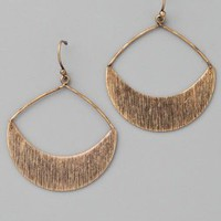 Club Monaco Brushed Gypsy Hoop Earrings