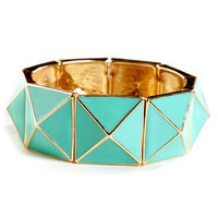 Peak Season Mint Green Stretch Bracelet