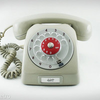 Dialog Telephone - Vintage 1960s Swedish Dial Telephone with Nice Bell Ring