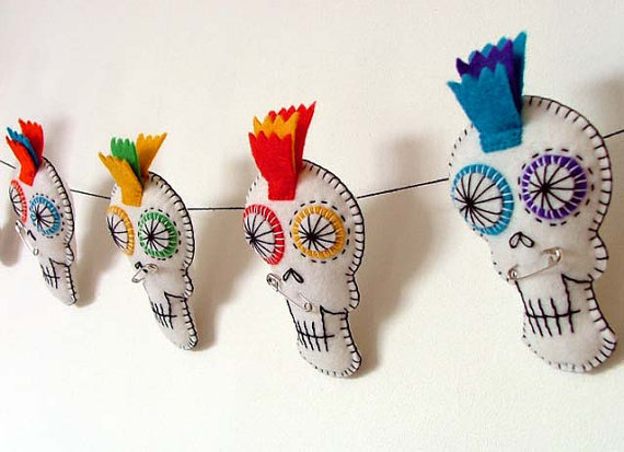 Halloween Decorations Bunting Sugar Skull from ...