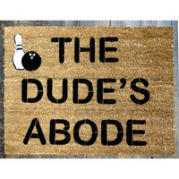 Bowling Big Lebowski Dude Doormat outdoor by damngooddoormats