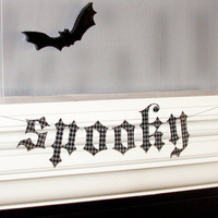Houndstooth Spooky Halloween Banner by tuckerreece on Etsy