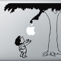 Giving tree Apple Macbook decal sticker skin laptop by boomdecal