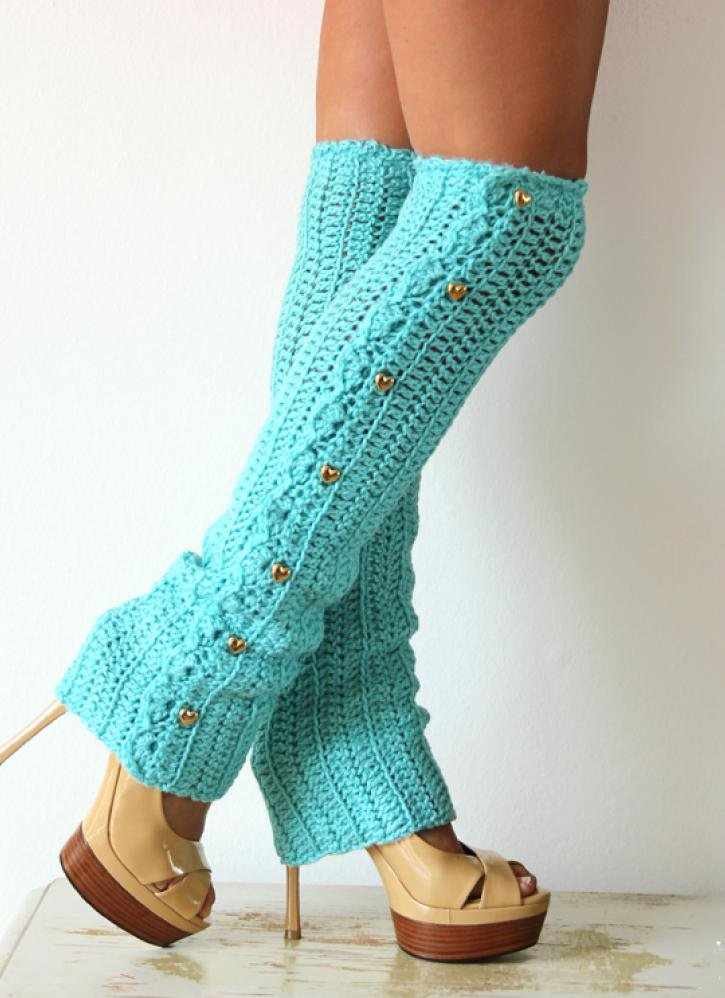 Crochet Leg Warmers : Dance Till Dawn Crochet Leg Warmers from UsTrendy Accessories