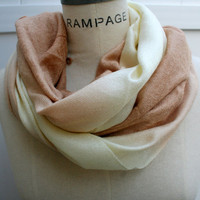 Pashmina Infinity Scarf FREE Shipping Cafe Latte Beige Pashmina Scarf Neckwarmer Autumn Fall Fashionor Best Friend Gifts - By PiYOYO
