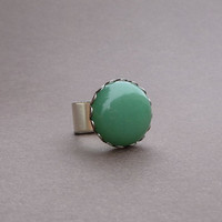 the perfect cocktail ring in green aventurine and silver