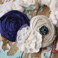 Wedding Garter in Sapphire Dusk Old New Borrowed by rosebudlips