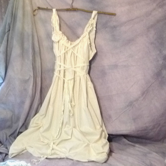 Custom Wedding Dress Beach Corset Cottage Maxi Gown by SavoyFaire