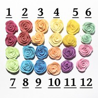 1 Pair of Pastel Polymer Clay Roses YOU CHOOSE - by sew340 on madeit