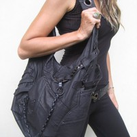 ninja assassin hobo bag by jungletribecouture on Etsy