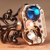 Steampunk Ring Steam Punk Jewelry Clockwork by inspiredbyelizabeth