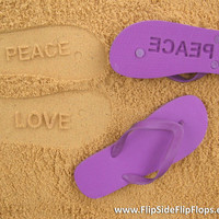 Custom Sand Imprint Flip Flops. Personalize With Your Design or Logo. No Minimum Order Quantity