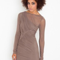 Asymmetric Mesh Dress - NASTY GAL