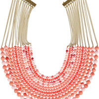 Rosantica | Raissa 24-karat gold-dipped beaded necklace | NET-A-PORTER.COM