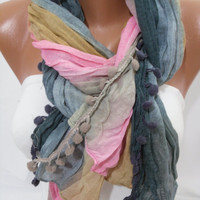 Multicolor Women Shawl -Scarf  Headband Necklace Cowl