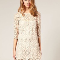 ASOS | ASOS SALON Lace Shift Dress at ASOS