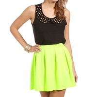 Black Studded Bib Top