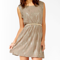 Dripping Metallic Daytime Dress
