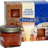 Cinnabon by Hanna's Candle 4-Pack Cinnabon Sampler Candle