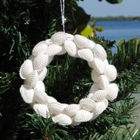 Seashell Wreath Ornaments | OceanStyles.com