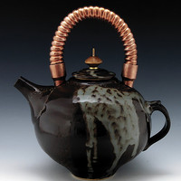 Stoneware Teapot 42 by Ron Mello: Ceramic Teapot - Artful Home