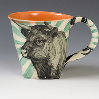Cow Mug by Hannah Niswonger: Ceramic Mug - Artful Home