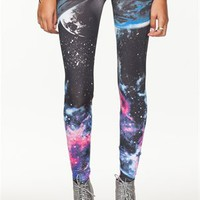 A&#x27;GACI Black Galaxy Leggings - New Arrivals