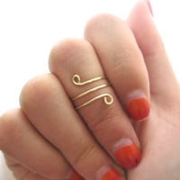 Brass Twisted Knuckle Ring