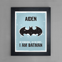 I Am Batman - Personalized Nursery or Children's Room Wall Art