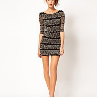 River Island Lace Bodycon Dress at asos.com