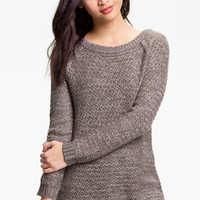 Frenchi® Airy Oversized Sweater (Juniors) | Nordstrom