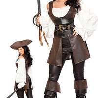 Pirate Costumes: Deluxe 6pc Swashbuckler @ OdGirl.com - Sexy Lingerie, Sexy Clothing, Valentine?s High Heel Shoes, Dancewear, Clubwear, Gothic Apparel, Minidress, Bridal Lingeries, Short Skirt, Bikini, Swimwear, PVC Leather and Gowns