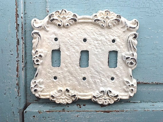 Triple light switch cover metal wall from camillacotton