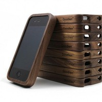 Vintage Walnut Wood iPhone4/4s Case