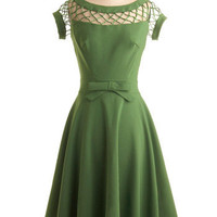With Only a Wink Dress in Peridot | Mod Retro Vintage Dresses | ModCloth.com
