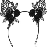 Mimi Holliday by Damaris|Lace cat ear headband|NET-A-PORTER.COM