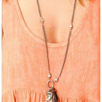 Love Heals - Charm Necklace With Leather